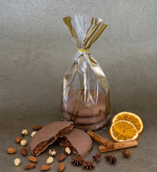Elisen-Lebkuchen mit Volllmilchschokolade - 3 Stück