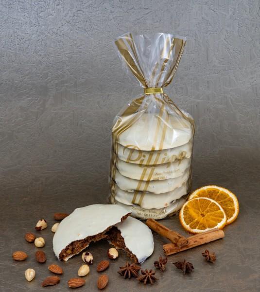 Elisen-Lebkuchen weiße Schokolade - 6 Stück