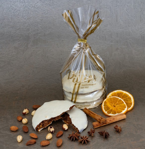 Elisen-Lebkuchen weiße Schokolade - 3 Stück