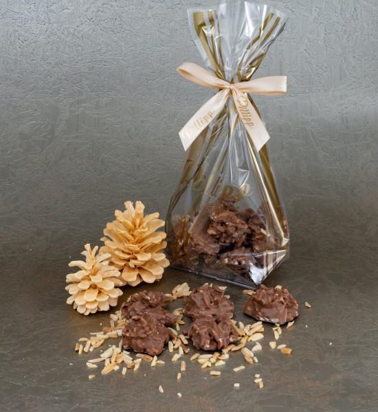 Mandelsplitter mit Vollmilchschokolade