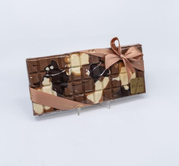 Schokoladentafel XXL Vollmilch mit heller und dunkler Kuvertüre