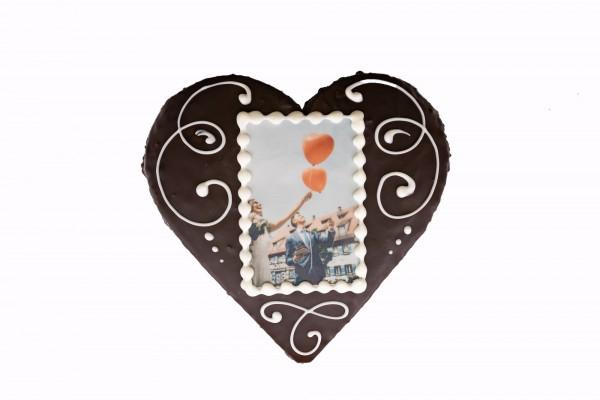 Kuchen in Herzform (personalisierbar)