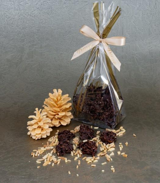 Mandelsplitter mit Zartbitterschokolade