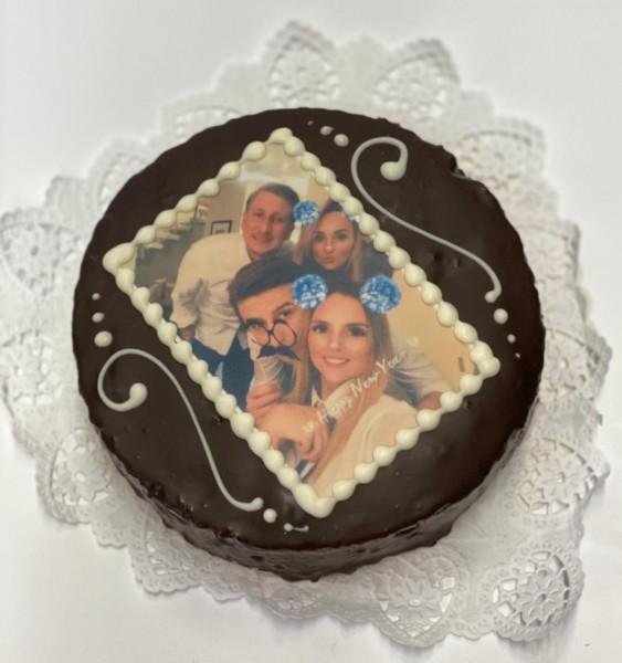 Personalisierter Kuchen mit Foto in 4 Geschmacksrichtungen