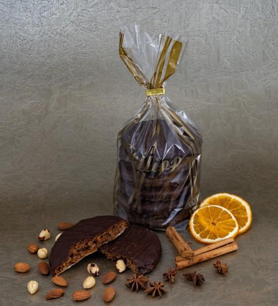 Elisen-Lebkuchen schokoliert - 6 Stück