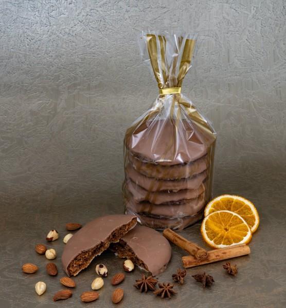 Elisen-Lebkuchen mit Volllmilchschokolade - 6 Stück